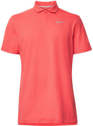 Nike Aeroreact Victory Striped Golf Polo Shirt