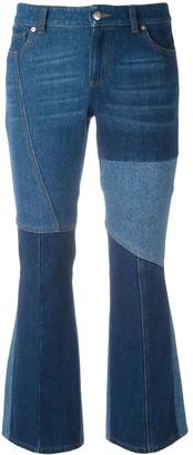 Alexander McQueen panelled kick flare jeans