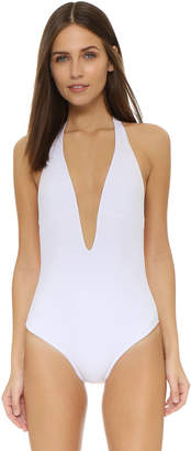 Peixoto Flamingo Deep V One Piece $110 thestylecure.com