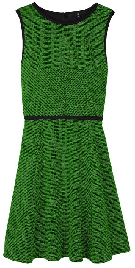 Tibi Tweed Knit Sleeveless Dress
