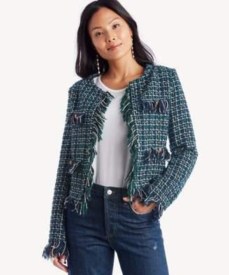 Sole Society Tweed Fringe Mini Jacket