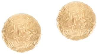 Eternagold EternaGold 8.0mm Chevron Pattern Ball Stud Earrings 14K Gold