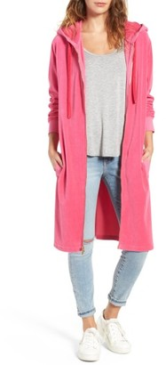 Women's Juicy Couture Longline Velour Hoodie $178 thestylecure.com