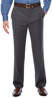 STAFFORD Stafford Travel Medium Grey Classic Fit Flat-Front Suit Pants