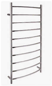 Rails Brindisi 10 Round Bars Curved Heated Towel Rail
