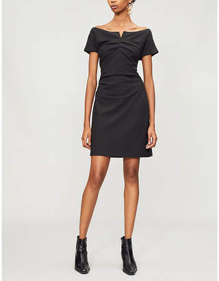 Helmut Lang Off-the-shoulder crepe mini dress