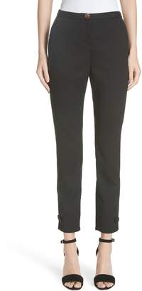 Ted Baker Ted Working Title Nadaet Bow Detail Textured Trousers