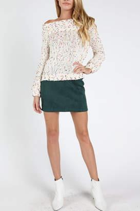 Honey Punch Suede Mini Skirt