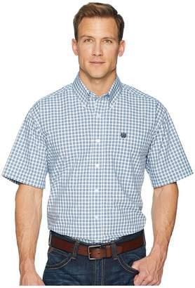 Cinch Short Sleeve Plain Weave Plaid Men's Clothing