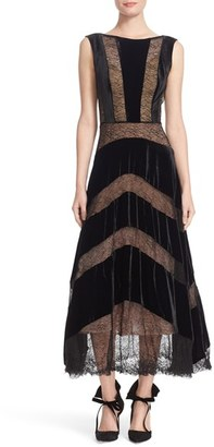 Women's Tracy Reese Lace & Velvet Combo Midi Dress $498 thestylecure.com
