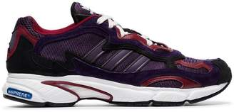 adidas purple Temper Run Subtle 90s leather and suede low-top sneakers