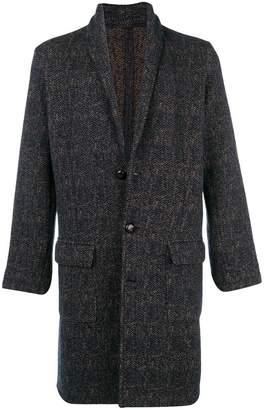 Eleventy single breasted tweed coat