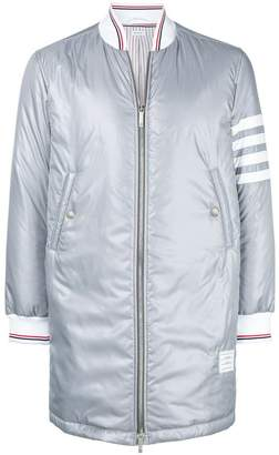 Thom Browne 4-Bar Down Fill Long Ripstop Bomber