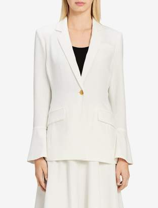 Calvin Klein bell sleeve single button blazer