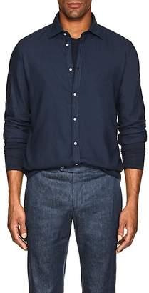 Massimo Alba Men's Washed Slub Twill Shirt