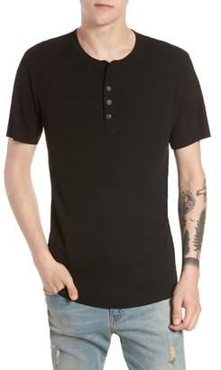 Treasure & Bond Ribbed Henley T-Shirt