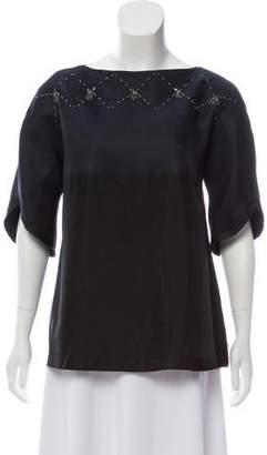 Thakoon Embellished Silk Top