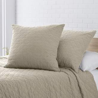 Laurèl Foundry Modern Farmhouse Susann Quilted Washed Belgian Linen Euro Sham