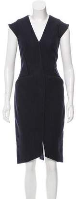 Narciso Rodriguez Silk-Trimmed Wool Dress w/ Tags