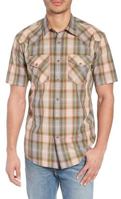Pendleton Frontier Regular Fit Plaid Short Sleeve Sport Shirt
