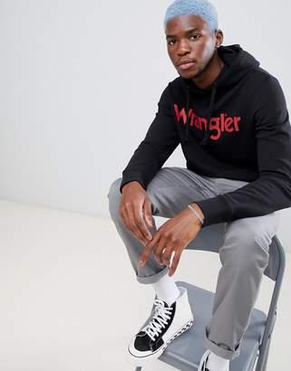 Wrangler logo hoodie black