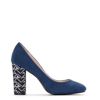 680817bb53199 CASTALUNA PLUS SIZE Wide Fit Court Shoes with Patterned Heel