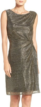 Women's Ellen Tracy Metallic Knit Sheath Dress $118 thestylecure.com