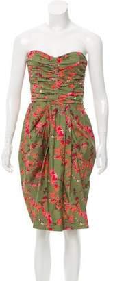 Thakoon Strapless Floral Print Dress