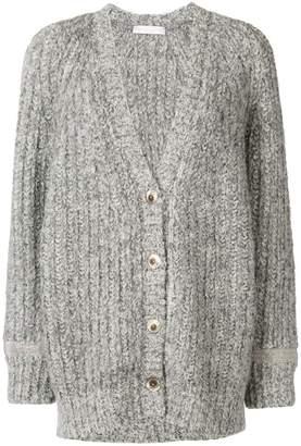 Fabiana Filippi embellished buttoned cardi-coat