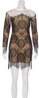 For Love & Lemons Long Sleeve Mini Dress