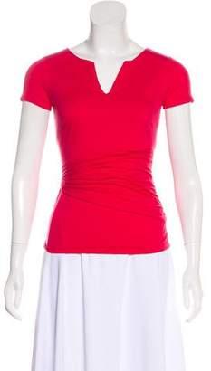 Paule Ka Pleated Short Sleeve Top