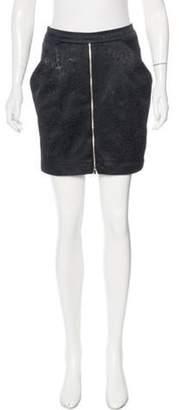 Thomas Wylde Jacquard Mini Skirt Black Jacquard Mini Skirt