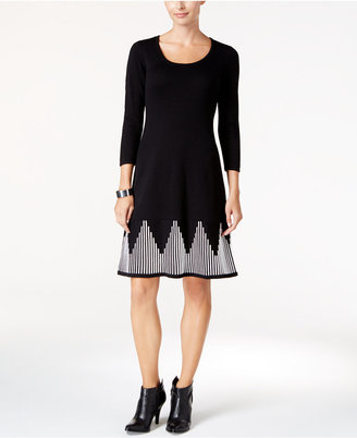 Nine West Fit & Flare Sweater Dress $79 thestylecure.com