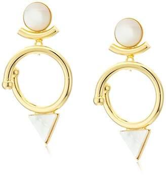Yochi Triangle Drop Earrings