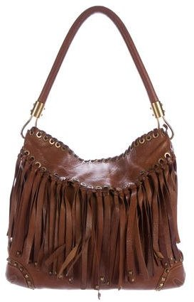 MICHAEL Michael Kors Michael Kors Fringe Leather Shoulder Bag