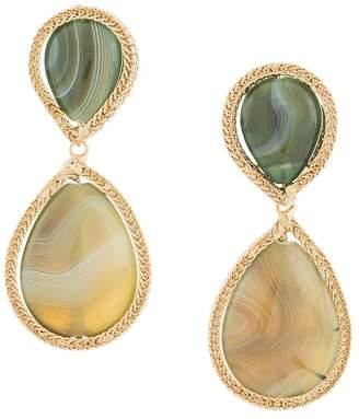 Rosantica drop stone earrings