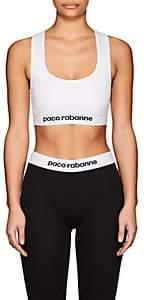 Paco Rabanne WOMEN'S LOGO SPORTS BRA-WHITE SIZE XS