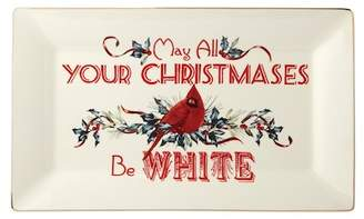 Lenox May All Your Christmases Be White Tray