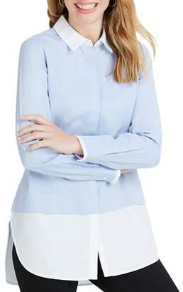 Foxcroft Giselle Color-Block Button-Down Tunic