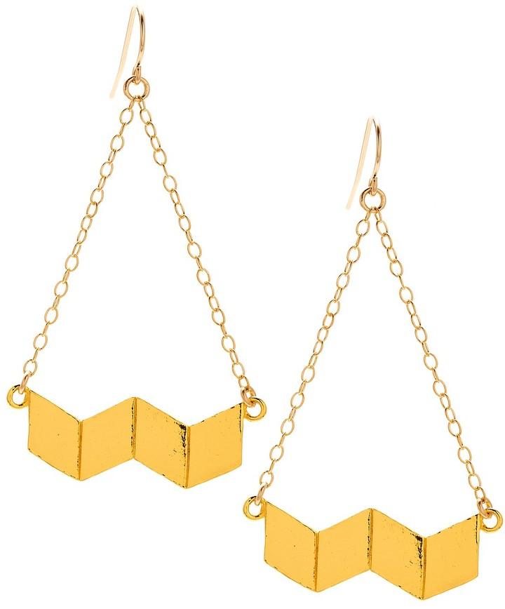 Gorjana Chevron Swing Earrings