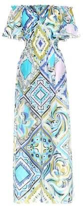 Emilio Pucci Beach Printed cotton and silk maxi dress