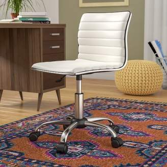 Wrought Studio Shrum Chrome Adjustable Air Lift Office Mid-Back Desk Chair