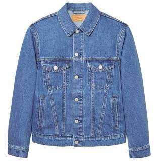 Mango man MANGO MAN Vintage light wash denim jacket