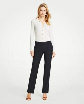 Ann Taylor The Petite Straight Leg Pant In Tropical Wool