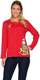 Factory Quacker Holiday Fun Long Sleeve SnapFront Cardigan