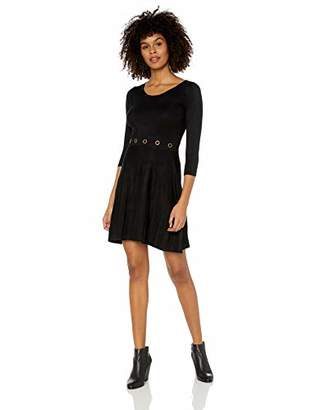 Amy Byer A. Byer Sweater Dress with Grommet Waist (Junior's)