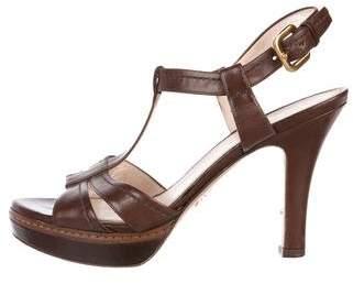 Prada Platform T-Strap Sandals