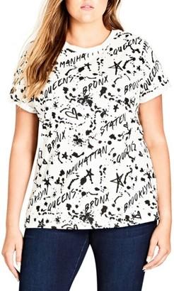 Plus Size Women's City Chic Bronx Tee $39 thestylecure.com