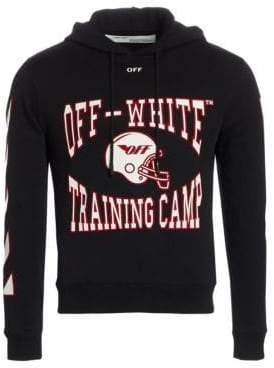 Off-White Men's Training Camp Hoodie - Black - Size XS