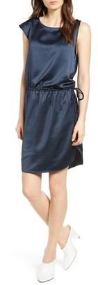Trouve Asymmetrical Ruched Dress